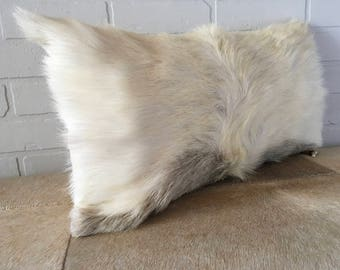 New pillow from vintage nordic goat hide. FREE SHIPPING in USA and Canada