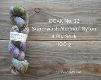 Superwash Merino/Nylon 75/25 Sock yarn 100 g OOAK No. 22
