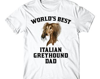 World's Best Italian Greyhound Dad Dog Owner Graphic T-Shirt