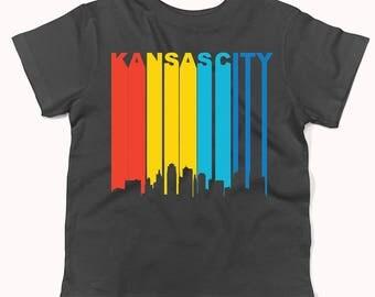 Retro 1970's Style Kansas City Missouri Downtown Skyline Infant / Toddler T-Shirt