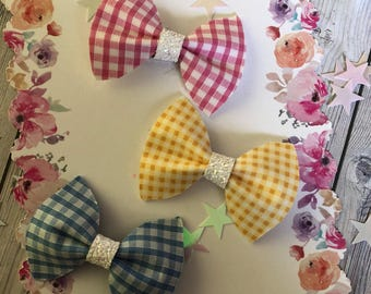 Gingham Pinch Bow
