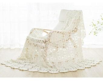 CROCHET PATTERN - Vintage Snowflakes Blanket, Throw, Handmade Blanket, Housewarming Gift, Gift for her, DIY pattern