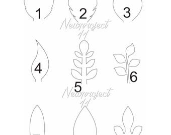 Set of 9 PDF Leaf Templates