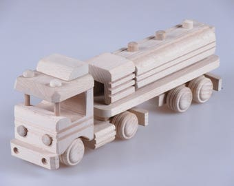 Wooden Tank Truck Toy