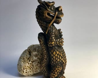Hand Carved Wooden Dragon