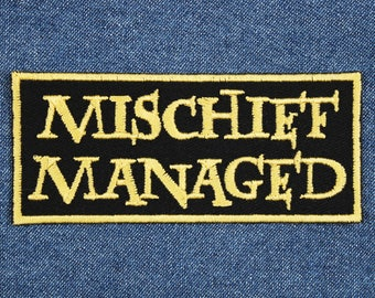 "Mischief Managed Patch – 1.75"" x 4"" Potterhead Patches – Marauders Patch – Geek Patch – Patch for Jacket – Gifts Under 10 – Gifts for Nerds"