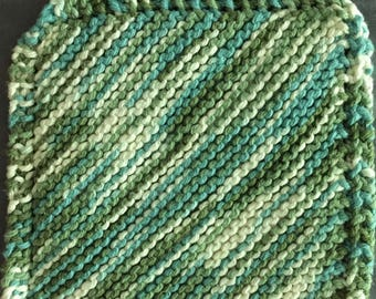 Green Multi-colored Washcloth