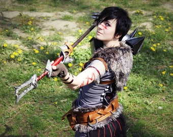 Hawke Dragon Age 2 Armor Costume Garret Mage Cosplay Marian Inquisition Male Female Staff Weapon Kirkwall Handmade For Order