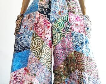 Wide leg Cotton Trousers  Pants Bohemian Gypsy Hippie Trousers Wrap