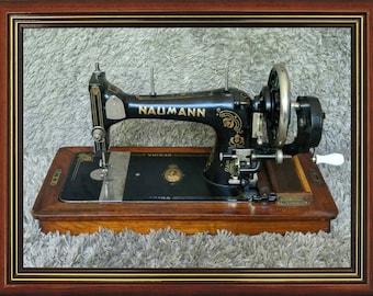 Naumann KL 9 Regina | Antique Sewing Machine | Wilhelmina 40 Years Queen of the Netherlands | Germany 1930 | Nähmaschine | FREE Shipping*