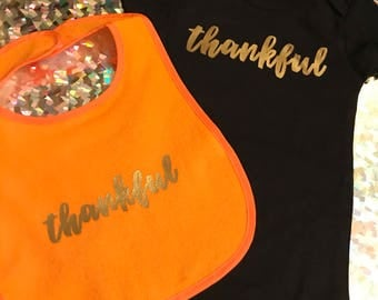 thankful onesies and/or bib