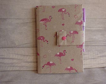 Covered A5 Flamingo Notebook