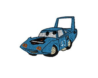 5x7 Embroidery File: Cars, King, Choose Your Size and Format