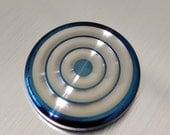 Wavy Titanium Worry Coin