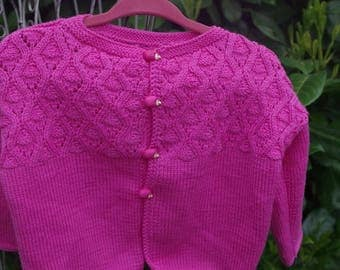 Fine Merino sweater in pink