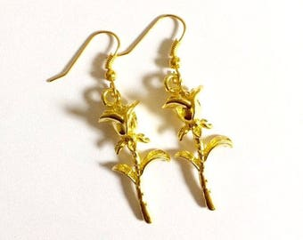Beauty and the Beast Flower Earrings