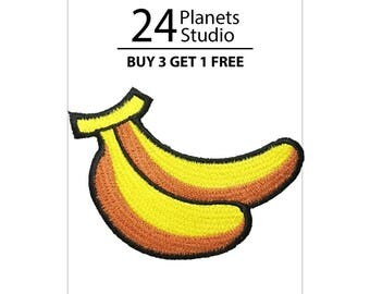 Two Bananas Iron on Patch by 24PlanetsStudio