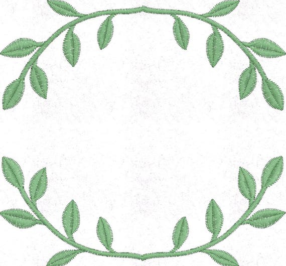 Branch monogram embroidery design pattern file hoop