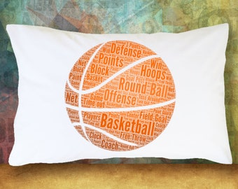 Set of 2 Pillowcases FOOTBALL & BASKETBALL Sports Lovers Bedding Bedroom Decoration Room Decor College Dorm Room Teenager Guest Room