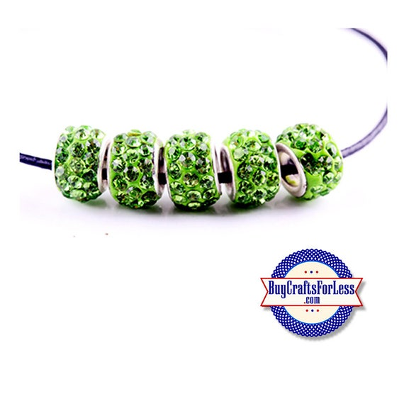 Glittery GLASS BEADs, Lt GREEN, 6, 12 or 24 pcs +FREE ShiPPing & Discounts*