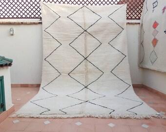 Moroccan carpet, berber rug, beni ourain carpet, BENI OURAIN, beni ourain rug, classical design with beni ouarain carpet, beni ouarain