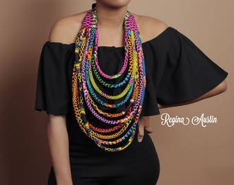 African strand necklace