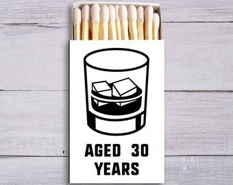 Matchboxes, Monogrammed Matches, Custom Matchboxes, Cigar Matches, Party Matches, Birthday Matches, 30th, 40th, 50th, 60th, Whiskey, 1380