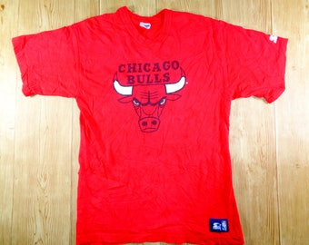 20% OFF Vintage 90s Chicago Bulls Basketball Tshirt Red