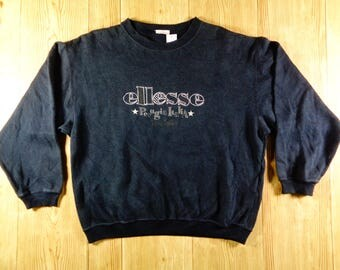 On Sale! Vintage ELLESSE Perugia Italia Medium Women Size Sweatshirt