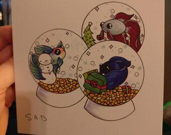 Merry Fishmas Cards