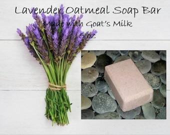 Free Shipping Soap Bar (Domestic Only); Lavender Soap; Oatmeal Soap; Goat's Milk Soap;  5 oz Soap Bar