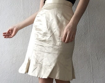 VIVIENNE WESTWOOD red label hig-waisted white skirt