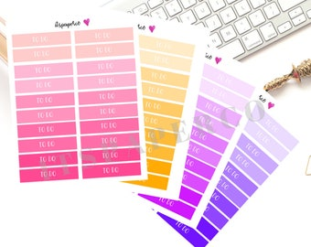 To Do Header Stickers for Erin Condren, Happy Planner and Bullet Journal - Functional Stickers - Text Stickers