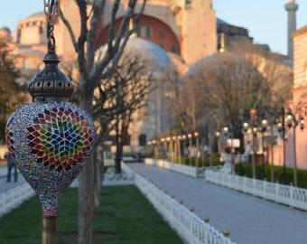 Turkish Handmade Mosaic  Bedside Night Accent Lamp Light Lamp Shade Lampshade ( FREE SHİPPİNG)