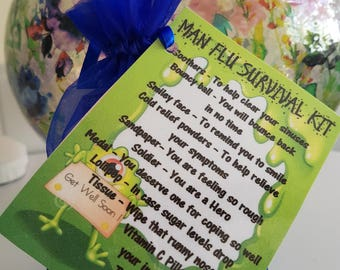 Man Flu Survival Kit - Novelty gift for a friend or loved one