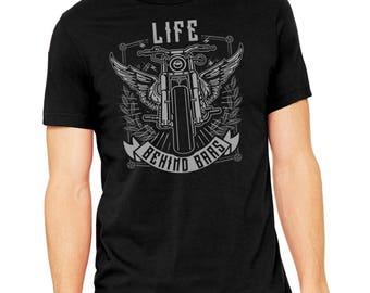 Life Behind Bars Motorcycle Shirt, biker shirt, motorcycle gift, motorcycle lover, gift for dad, motorcycle, harley davidson