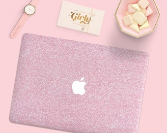 Blush Pink Glitter macbook Case, Macbook Pro Hard Case, Marble Macbook Air Case, Macbook Pro 13 Case, Macbook Air 13 Hard Case, hard Case