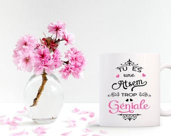 """Mug personalized """"You're too funky home"""" with custom signature"""