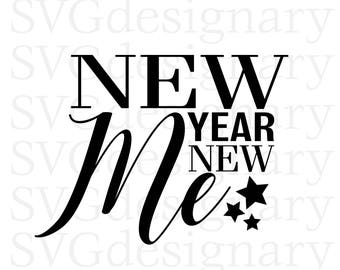 New Year New Me (New Years 2018, Party, Pop the Champagne, Cheers) SVG PNG Download
