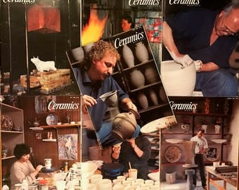 Ceramics Monthly Magazines - 7 Issues from 1996