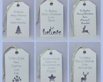 Personalised Christmas Gift tags for presents Secret Santa