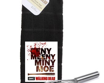 The Walking Dead Eeeny Meeny Miny Moe Logo  Kitchen Towel