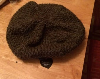Hand knitted slouchy beanie
