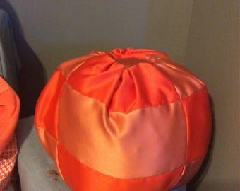 Duchesse Satin quilted stuffed pumpkin-large