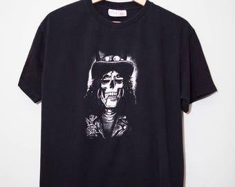 Vintage 1980's Slash Guns N Roses European Tour Shirt   Size Medium - Large