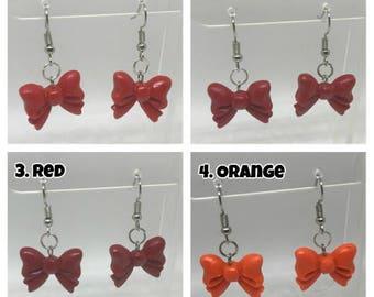 Polymer Clay Bow Earrings