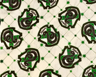 Harry Potter Slytherin House Crest Fabric By the Yard