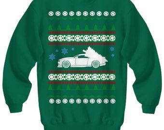 Cadillac CTS-V Ugly Christmas Sweater LS motor Sweatshirt