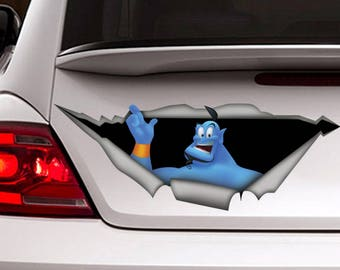 Aladdin decal, funny car decal, Jin decal, Jin  sticker, disney decal