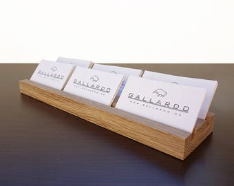 Multiple Wood Business Card Holder. Wooden Card Holder. Wood Business Card Stand. Wooden Card Holder. Office Card Display.